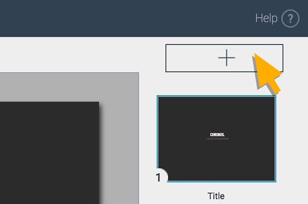 add new slide in visme