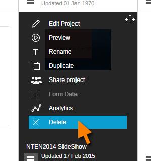 Delete your Visme Project