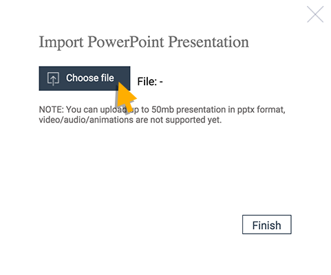 import powerpoint presentations into visme