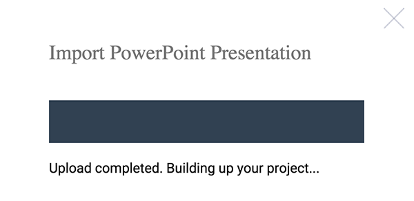 Upload powerpoint presentations in Visme