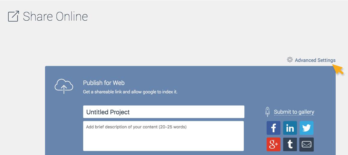 Publish for web