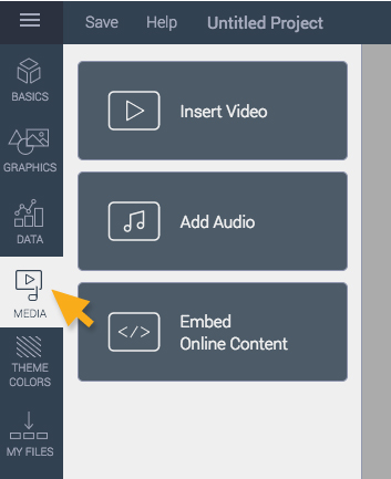 media add audio