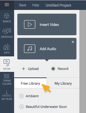 free library add audio