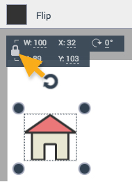Lock icons or shapes