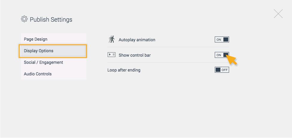 Show control bar