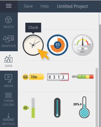 data-clock widgets