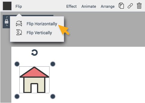 Flip horizontally or vertically