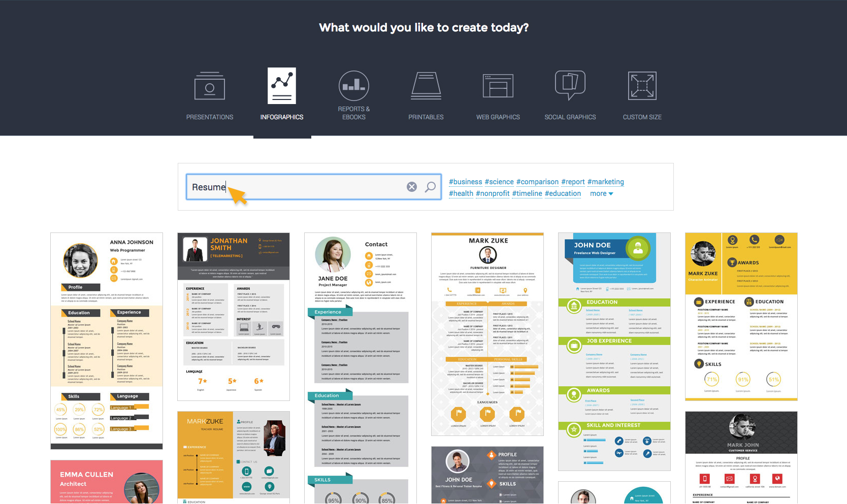 How to Create a Resume | Create Interactive Online Presentations ...