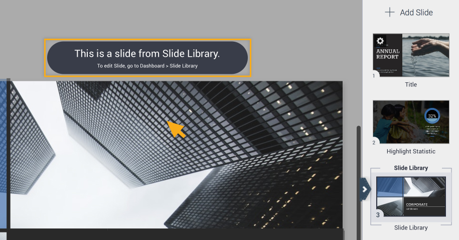 Editing slide library