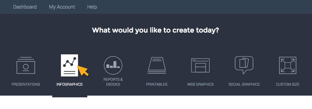 Visme Select Design Categories