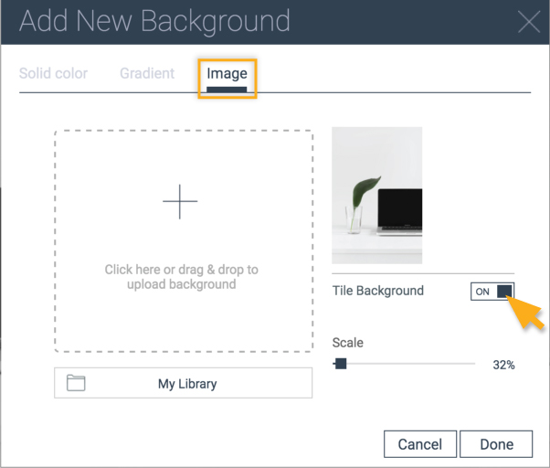 Tips for using background images | Create Interactive Online