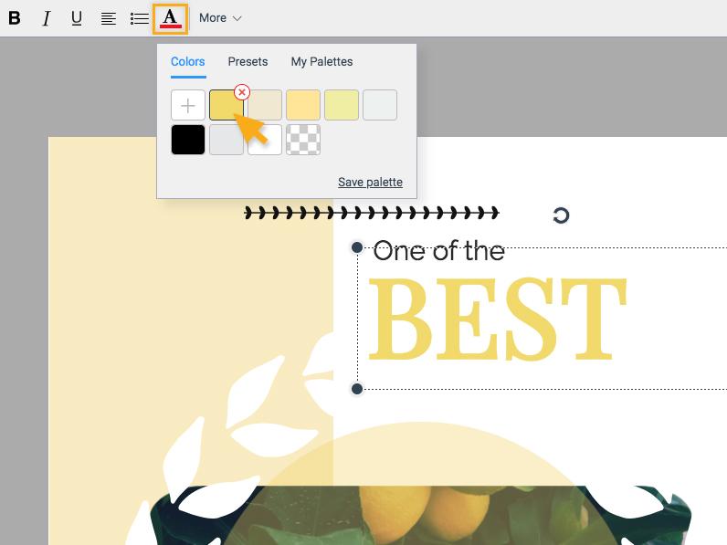 Add font color
