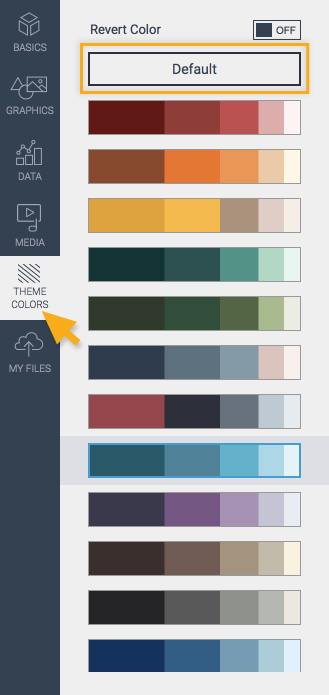 Theme colors for presentation